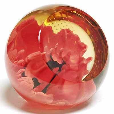 Caithness FLORAL CHARMS RED POPPY Paperweight 5594425