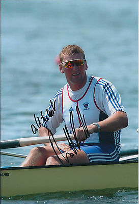 Matthew PINSENT 12x8 Signed Photo Autograph AFTAL COA British Rowing Gold Medal