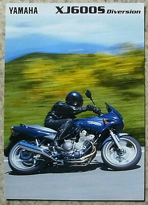 YAMAHA XJ600S DIVERSION MOTORCYCLE Sales Brochure c1997 #LIT-3MC-0107011-97E