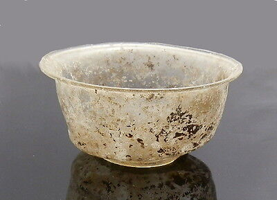 Roman Glass Bowl. Superb Condition (H461)