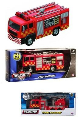 Fire Engine Teamsterz Die Cast Emergency Toy Kids Truck Veichle Lights Sounds 47
