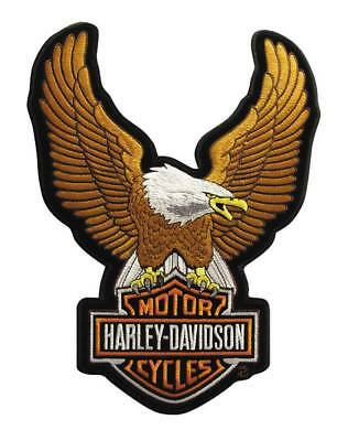Harley-Davidson Eagle Winged Large Brown Patch, 7-3/4/'' x 10-1/4'' EMB328394