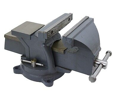 "6"" Bench Vise Clamp Tabletop Vises Swivel Locking Base Work Bench Top anvil"