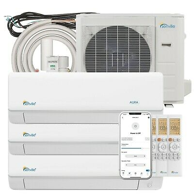 27000 BTU Tri Zone Ductless Mini Split Air Conditioner and Heat Pump - SEER 23