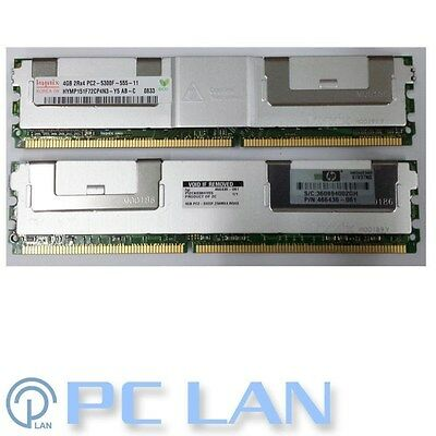 GENUINE HP 8GB PC2-5300F FBDIMM 2x 4Gb HP SERVER MEMORY 398708-061 466436-061