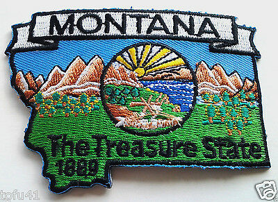 *** MONTANA STATE MAP *** Biker Patch PM6727 EE