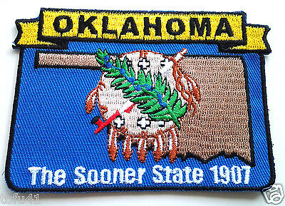 *** OKLAHOMA STATE MAP *** Biker Patch PM6737 EE