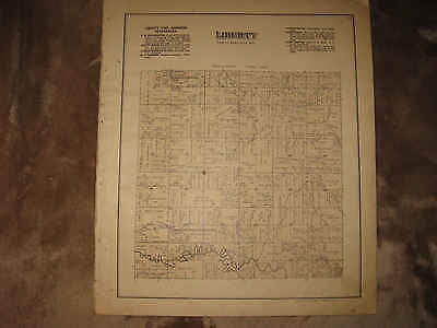 Antique 1888 Liberty Township Chattanooga Mercer County Handcolored Map Fine Nr