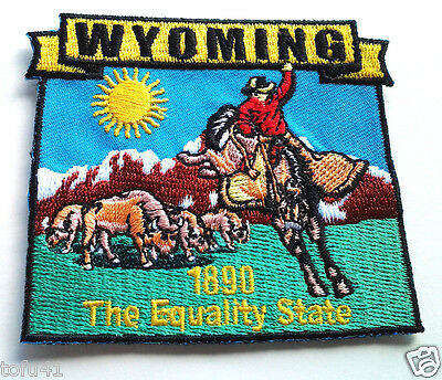 *** WYOMING STATE MAP *** Biker Patch PM6751 EE