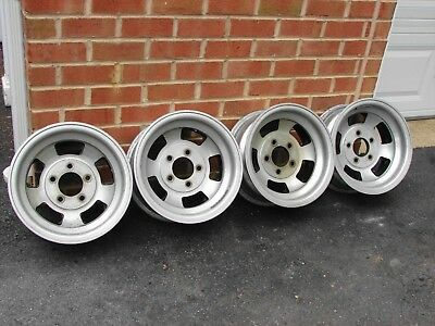 Vintage M/t Medallion Aluminum Slot Wheels 14 X 6.5  4 3/4 Bc 5 Bolt Gm Chevy