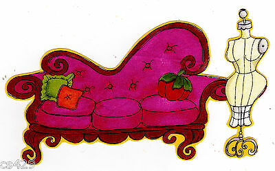 """6.5"""" LORALIE SEW FABULOUS COUCH FABRIC APPLIQUE IRON ON"""