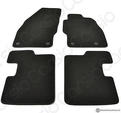 Vauxhall Corsa D 2007 Onwards Tailored Black Car Floor Mats 4 Piece Set