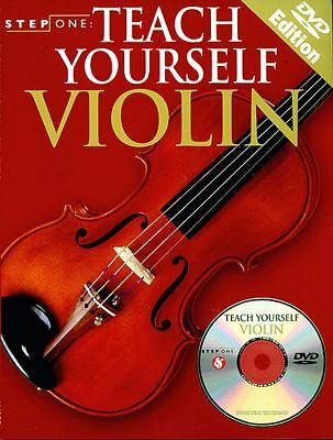 STEP ONE: TEACH YOURSELF VIOLIN BOOK/DVD -- NEW!