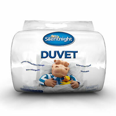 Silentnight Hollowfibre Extra Comfort Duvet With Polycotton Cover-15 Tog-Single