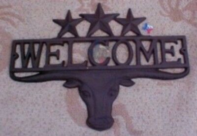Texas Longhorn Welcome Signs Western Welcome Plaque RD61111