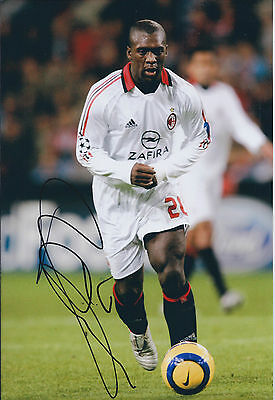 Clarence SEEDORF SIGNED Autograph 12x8 Photo AFTAL COA AC MILAN Italy Genuine