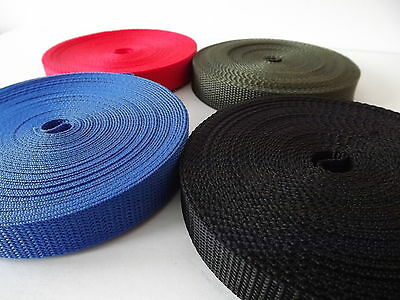 20mm Polypropylene Webbing 10m 20m 50m and 100 metre rolls