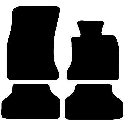BMW E60 5 Series Tailored Black Car Floor Mats Carpets 4pc Set With Velcro Tabs