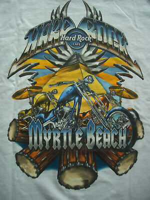 HRC Hard Rock Cafe Myrtle Beach City Tee 2006 Chopper White Size L NWT OVP