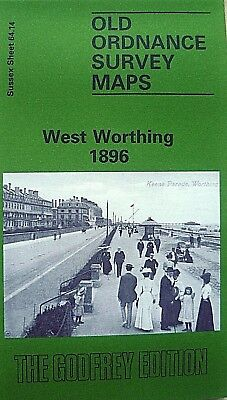 Old Ordnance Survey Detailed Maps West Worthing Sussex 1896  Godfrey Edition New
