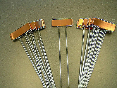 10 COPPER PLANT MARKERS Garden Labels Stakes +free flower seeds AMERICAN MADE!