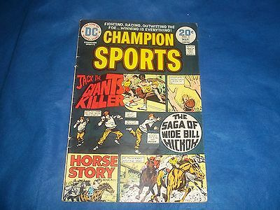 1974 DC Comics Champion Sports Comic Book Issue #3