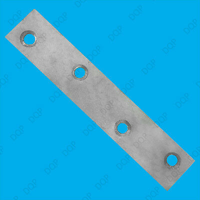 "100mm (4"") Flat Steel Brackets Straight Mending Plates, Repair Fixing Joining"