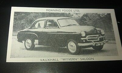 1953 VAUXHALL WYVERN  Saloon  Orig Cereal Trading Card