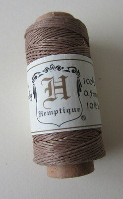 30 Metre Spool 0.5mm 3Ply Natural HEMP CORD Light Brown