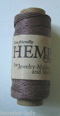 30 Metre Spool 0.5mm 3Ply Natural HEMP CORD  Dark Brown