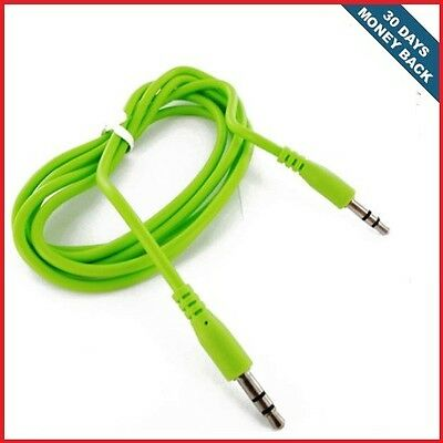 Green 3.5mm Stereo Male to Male Auxiliary Audio Aux Cable For LG Neon II GW370