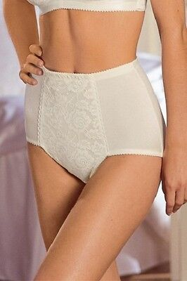 New Miss Mary Of Sweden Firm  Control Silky Briefs In Cream Plus Sizes   12-28