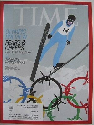 TIME MAGAZINE FEBRUARY 10 2014  OLYMPIC PREVIEW FEARS & CHEERS LIKE NEW!