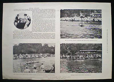 Henley Royal Regatta Rowing Event Henley-On-Thames Lady Esther Smith Etc 1898