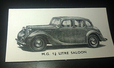 1951 MGY SALOON  Orig Swap Trade Card UK