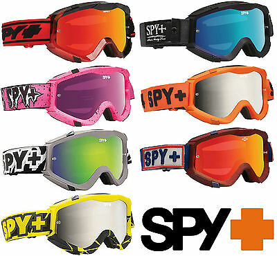 New Spy Optics Klutch Motocross Mx Mirrored Goggles + Free Clear Lens