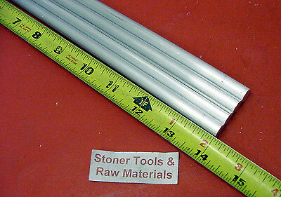 """4 pieces 5/8"""" ALUMINUM 6061 ROUND ROD 14"""" LONG T6511 .625 Solid Lathe Bar Stock"""
