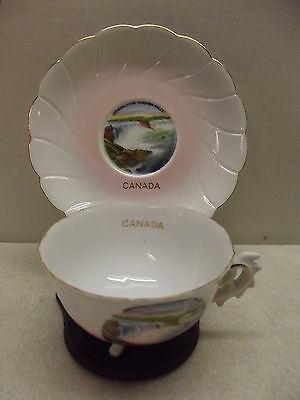 Niagra Falls Canada Made In Japan Fine Bone China Souvenir Teacup Cup $ Saucer