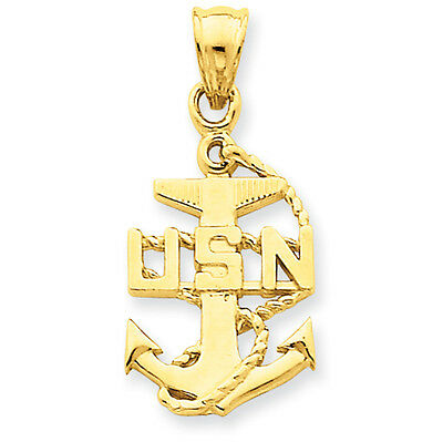 Anchor Solid Polished Charm Pendant 17mmx15mm 925 Sterling Silver