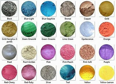 Cosmetic MICA / SHIMMERS SOAP/ CANDLE MAKING CP Colourant, Rich Colours, Make Up