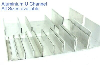 Aluminium U Channel 12 Pre Cut Sizes and 5 Pre Cut Lengths