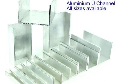 Aluminium U CHANNEL C Section 12 Pre Cut Sizes and 8 Pre Cut Lengths