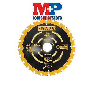 Dewalt Dt10304 Extreme Corded Circular Saw Blade 190Mm X 30Mm Bore 24 Tooth
