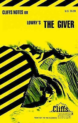 The Giver by Cliffs Notes (English) Paperback Book Free Shipping!