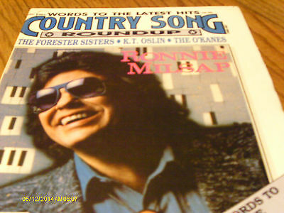 Ronnie Milsap Covers Country Song Roundup Magazine December 1987 K T Oslin