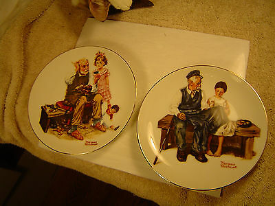 """Very nice 1982 dated """"Norman Rockwell"""" Limited Edition 4 plate collector set."""