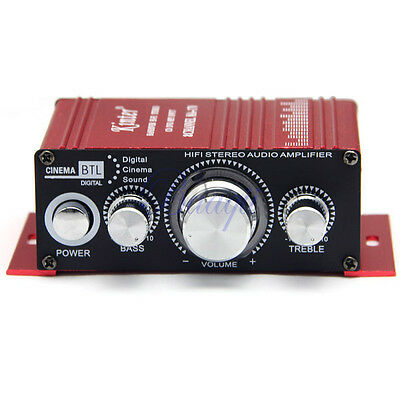 12V mini HiFi Audio 2Channel Stereo Amplifier For Car Motorcycle Boat Home Power