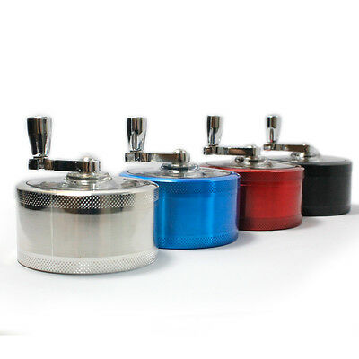 Grinder 3 Part Aluminum 50mm Storage Mill Herb Tobacco Spices Crusher Magnetic