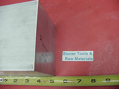 "4"" X 4"" ALUMINUM 6061 SQUARE SOLID BAR 5"" long T6511 Flat New Mill Stock"