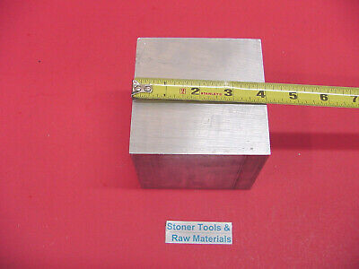 "4"" X 4"" ALUMINUM 6061 SQUARE SOLID BAR 4"" long T6511 Flat New Mill Stock"